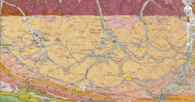KMZ/KML: Carte géologique du BRGM