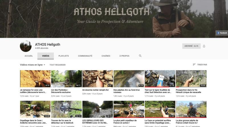 Vidéos: l'orpailleur Athos Hellgoth