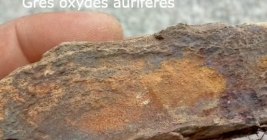 Ariège: des paillettes d'or dans du grès oxydé et altéré datant du Quaternaire