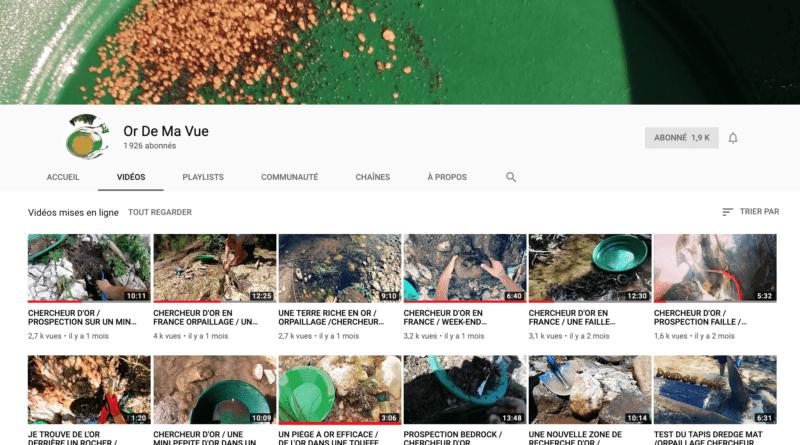 Vidéos: le prospecteur Or De Ma Vue
