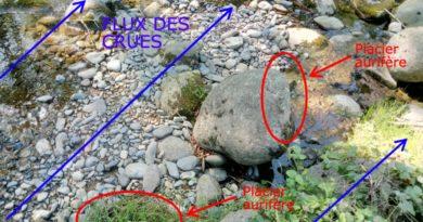 Exploration d'un nouveau placier aurifère sur le Lez en Ariège
