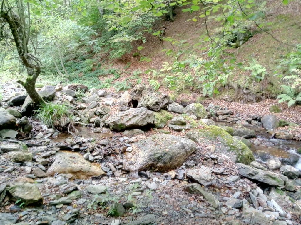 Exploration d'une rivière en montagne, située entre 2 mines antiques (cuivre et blende)