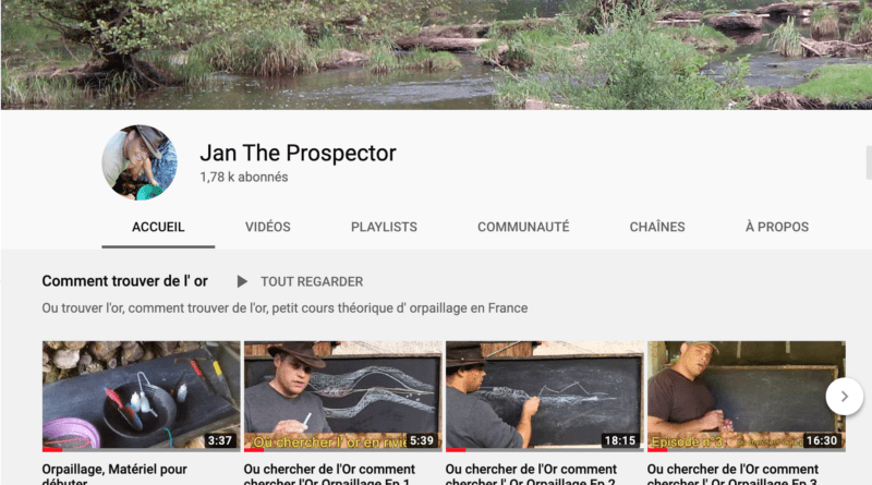 Vidéos: les cours de l'orpailleur passionné Jan The Prospector
