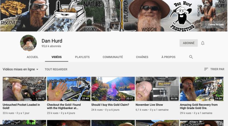 Vidéos: le prospecteur canadien Dan Hurd