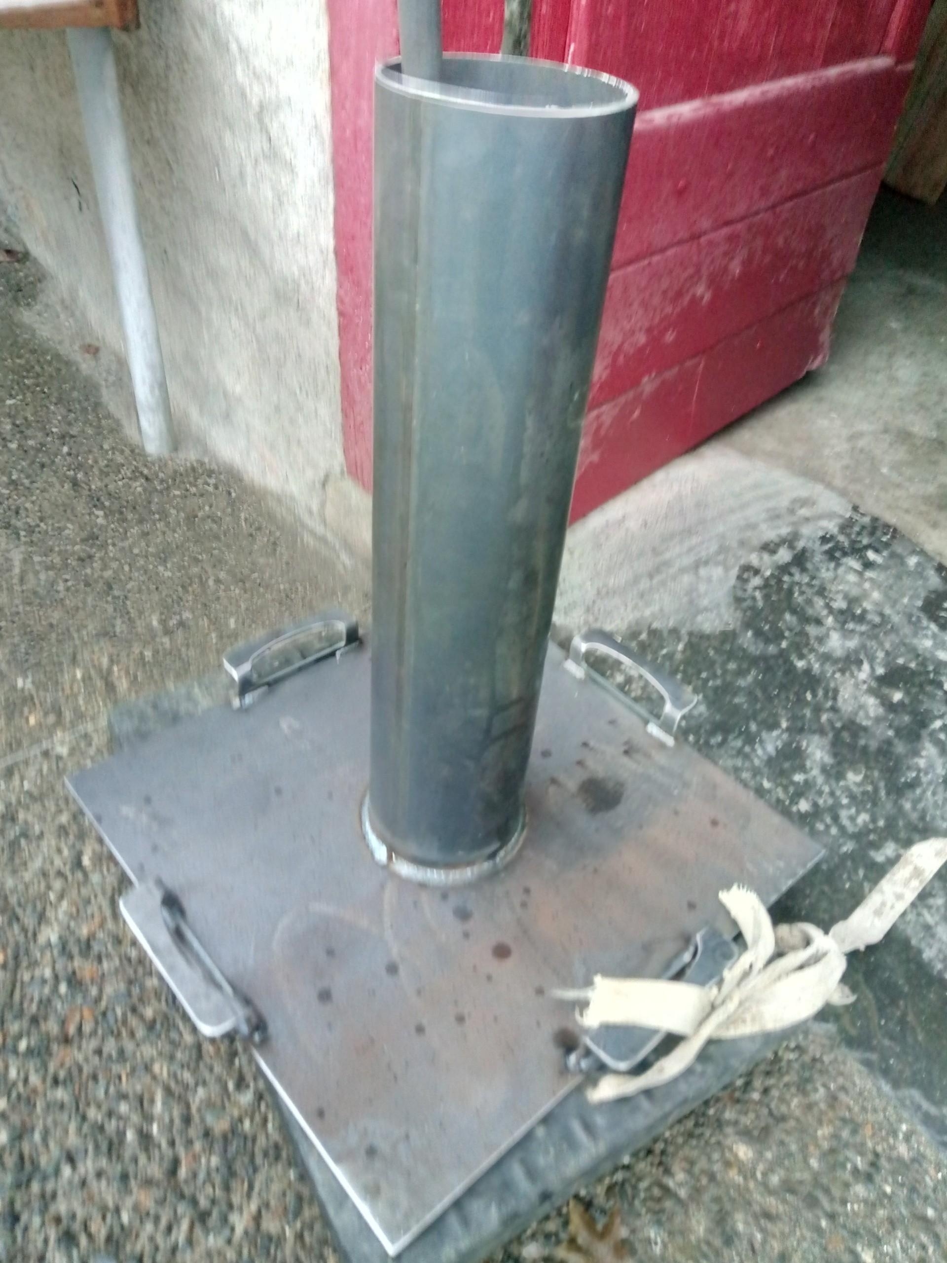 1er test satisfaisant du pilon, sur un nouveau grès oxydé local
