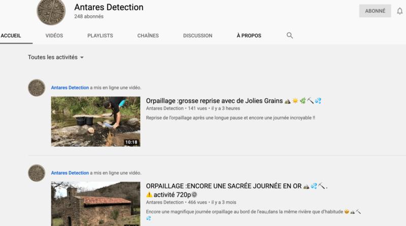 Vidéos: Le prospecteur d'or passionné Antarès Détection