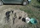 Des paillettes d'or dans les sables de chantier à bâtir du maçon?