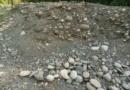 Etude d'un mur de galets et de graviers, dans un méandre intérieur de rivière